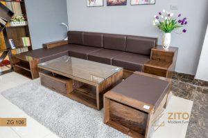 Sofa gỗ góc L ZG 106