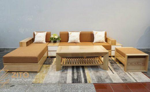 Bộ sofa chữ U đẹp ZG110 thu hút mọi ánh nhìn