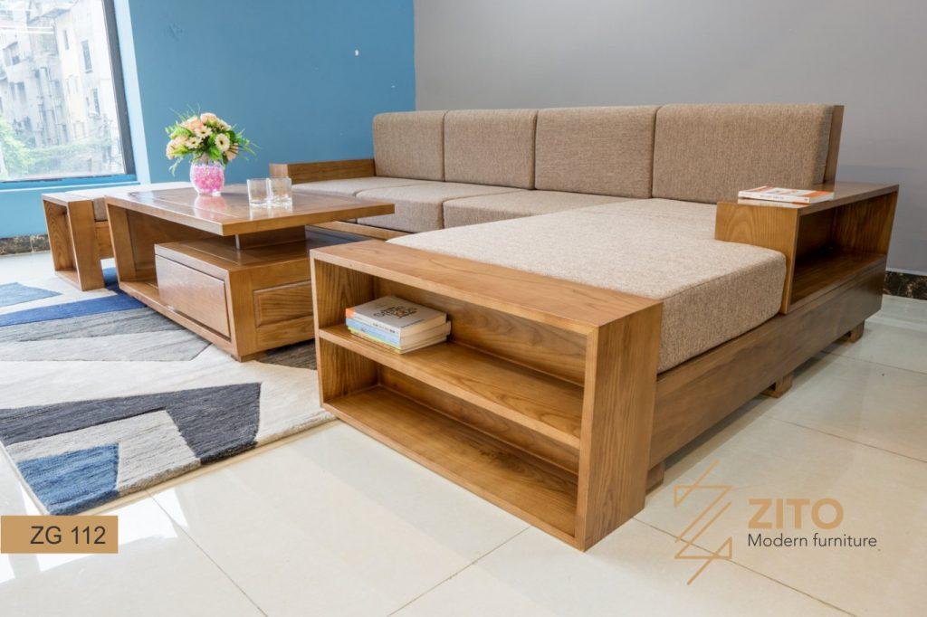 sofa góc đệm nỉ ZG 112