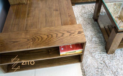 Thiết kế sofa gỗ màu óc chó Zg112 tiện dụng