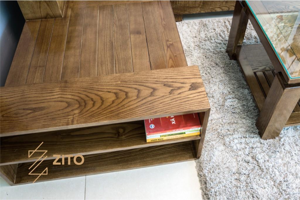 Sofa gỗ góc L ZG 112