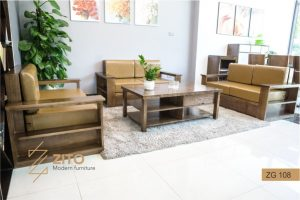 Sofa gỗ chữ U ZG 108