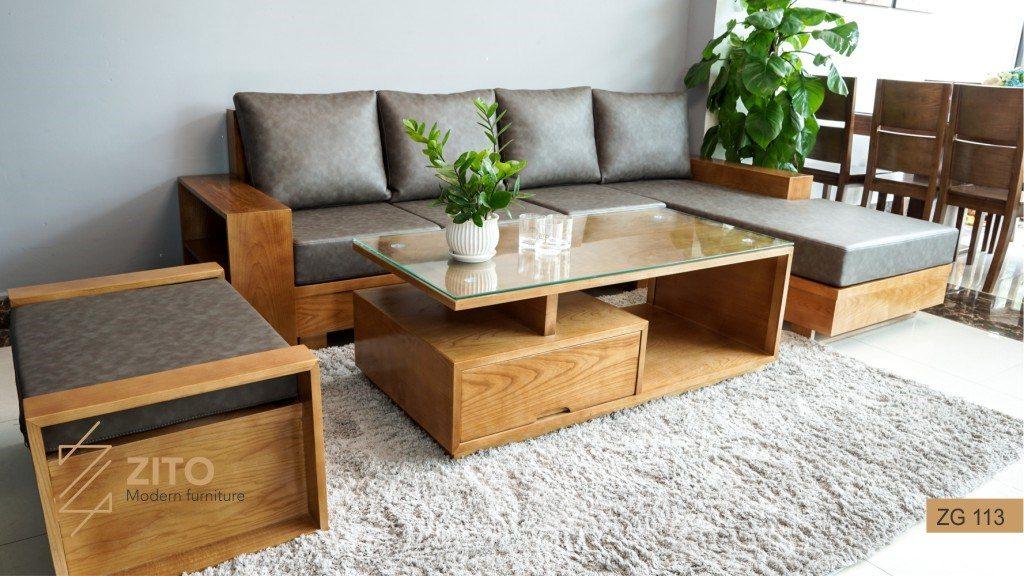 Báo giá sofa gỗ sồi mới nhất năm 2019