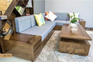 Vì sao nên chọn mua sofa gỗ tự nhiên chữ L cho phòng khách hiện đại?