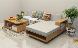 Sofa gỗ chữ L ZG 107