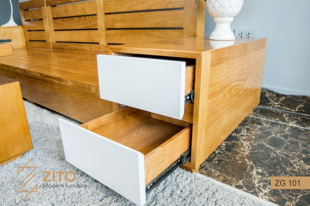 kích thước Sofa gỗ Sồi chữ L ZG 101 S05