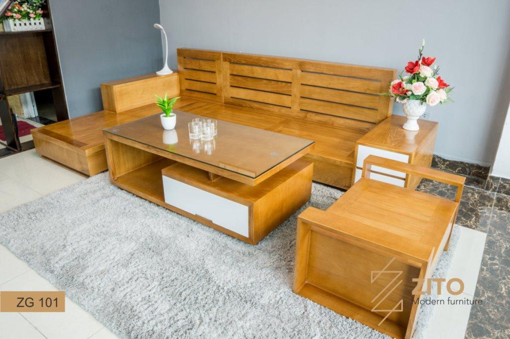 bộ bàn ghế gỗ góc phòng khách