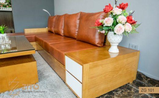 kích thước ghế sofa gỗ màu cánh dán