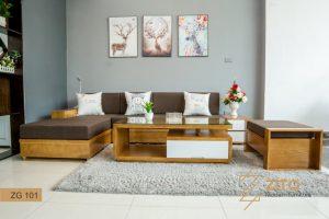 Sofa gỗ chữ L ZG101