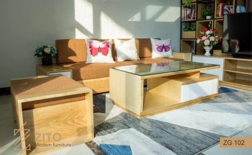 Sofa văng gỗ nhỏ gọn phù hợp với nhiều ngôi nhà