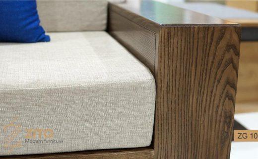 sofa gỗ phòng khách đệm nỉ