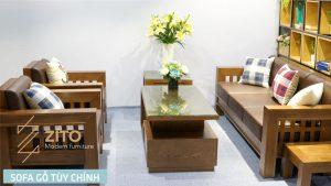 Sofa gỗ chữ U ZG 119