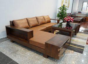 Sofa gỗ góc L ZG 118