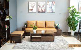 Bộ sofa gỗ Óc chó cho phòng khách