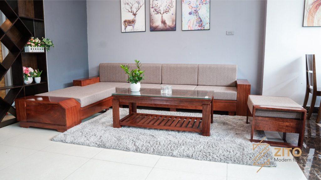 Bộ sofa gỗ Hương