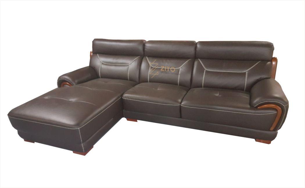 sofa da góc hiện đại cho căn hộ chung cư