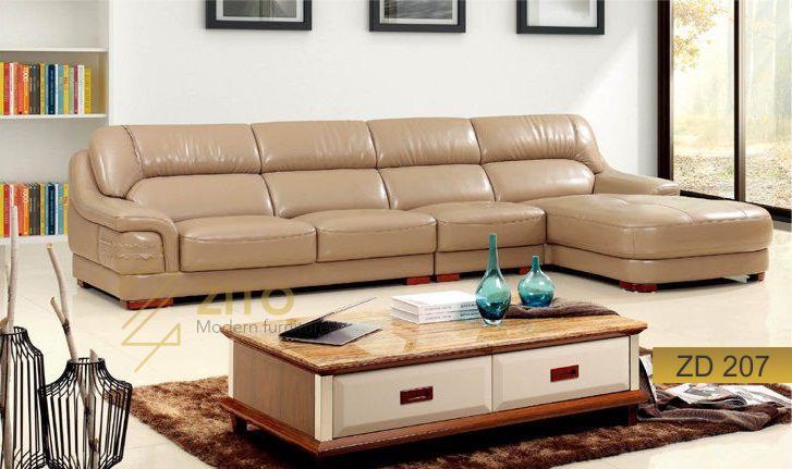 mẫu sofa da góc