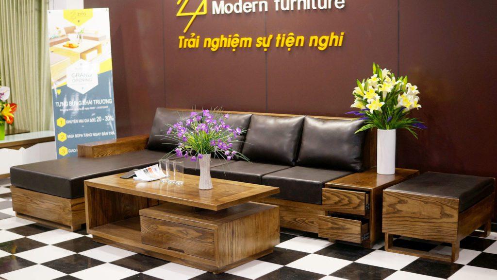 sofa gỗ chất lượng