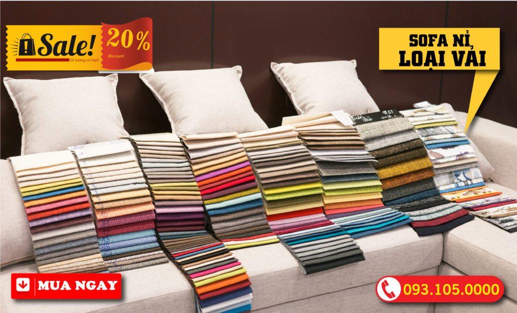 Màu nỉ tùy chỉnh cho sofa tại nội thất zito