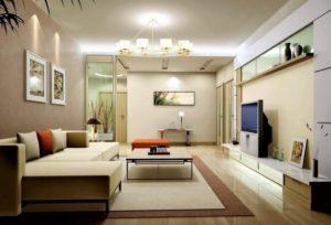 Sofa kê sát tường giúp tiết kiệm không gian phòng khách nhà bạn