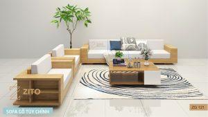 Sofa gỗ chữ U ZG 121
