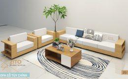 bàn ghế sofa gỗ đẹp tự nhiên
