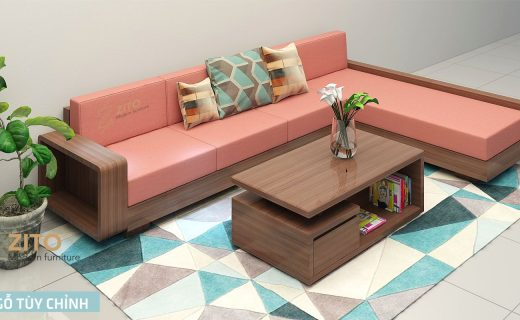 sofa gỗ phòng khách đẹp