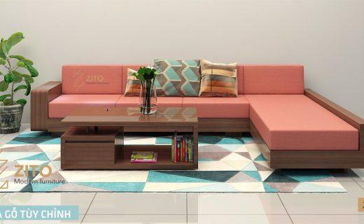 Mẫu sofa gỗ phòng khách ZG121