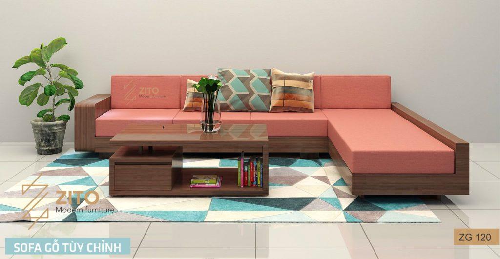 Những Mẫu Sofa Gỗ Goc Chữ L đẹp Tại Showroom Nội Thất Zito Diễn