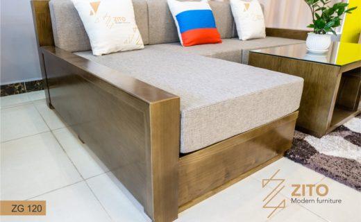 Ghế sofa gỗ Sồi nga nhỏ gọn ZG 120