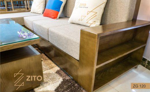 Kích thước sofa gỗ Sồi nga ZG120