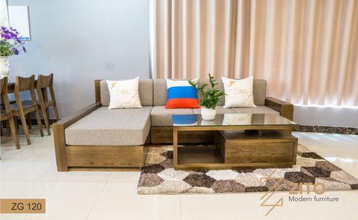 Bộ bàn ghế sofa gỗ Sồi giá tốt ZG 120