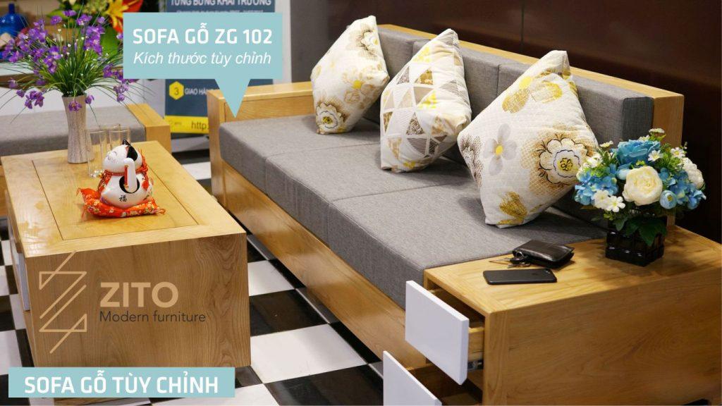 sofa văng gỗ sang trọng ZG102