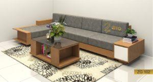 bàn ghế sofa gỗ phòng khách zg102 tại zito hà nội