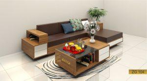 Sofa gỗ góc L ZG 104