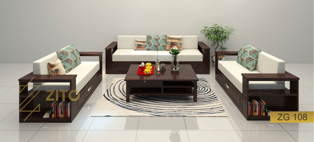 bàn ghế sofa gỗ sồi hiện đạiZG108 Tại Nội Thất ZITO