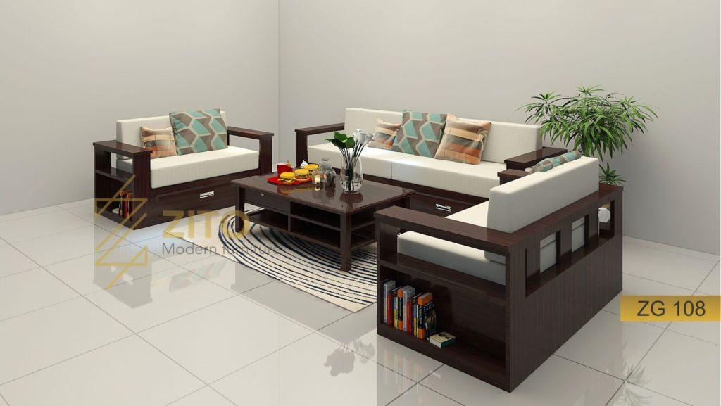 Bàn ghế sofa gỗ sồi hiện đạiZG108 tại hà nội