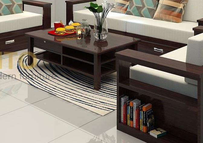 Sofa gỗ chữ U ZG 108 hiện đại