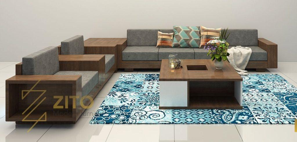 sofa gỗ đẹp cho phòng khách tại hà nội