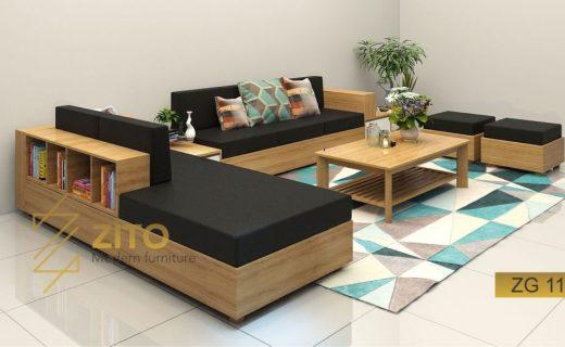 salon gỗ phòng khách