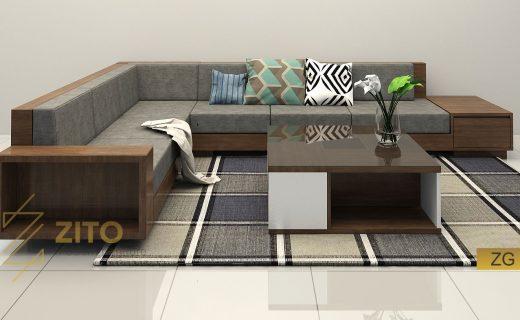 sofa gỗ tự nhiên cao cấp