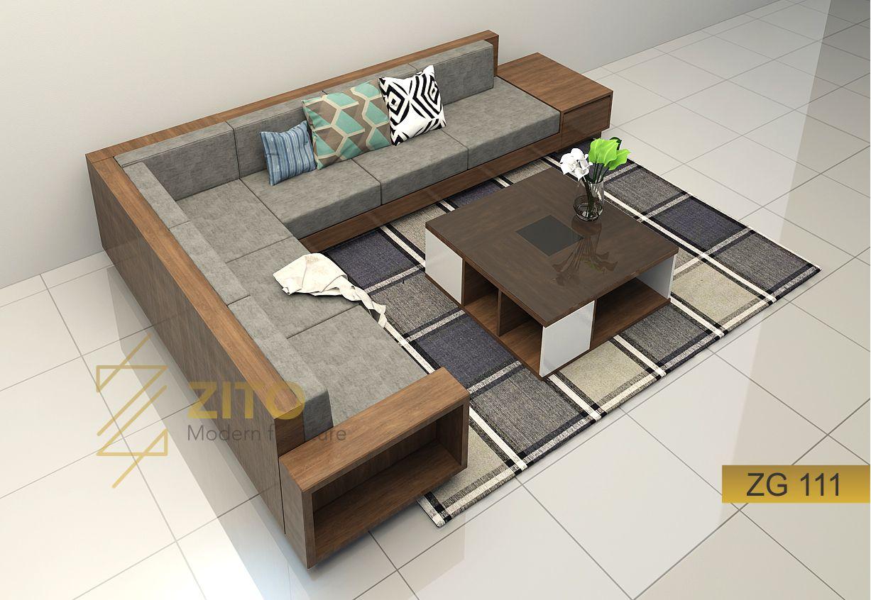 mua Sofa gỗ góc phòng khách tại hà nội