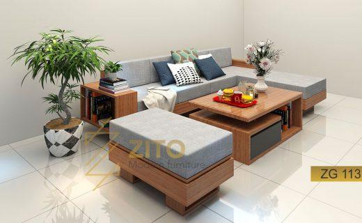 mẫu sofa gỗ tự nhiên