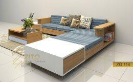 Sofa gỗ góc L ZG 114