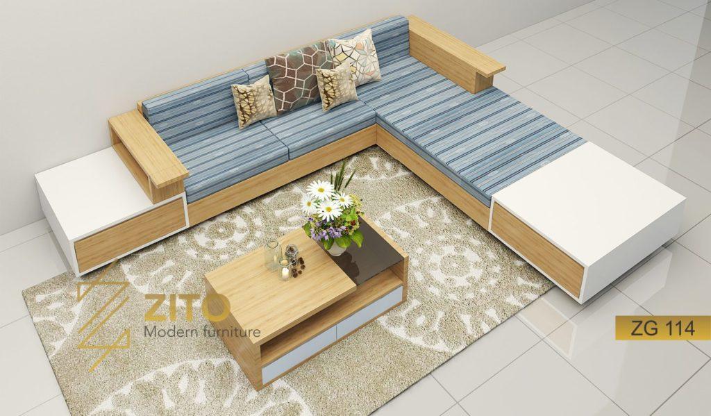 sofa gỗ phòng khách ZG114