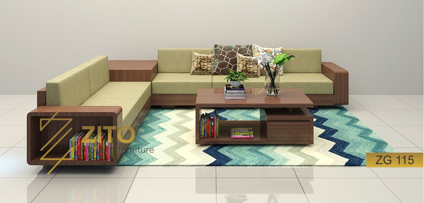 Mẫu Bàn ghế sofa gỗ phong cách hiện đại ZG115 tại siêu thị nội thất ZITO