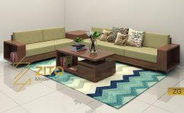 Sofa gỗ góc L ZG 115