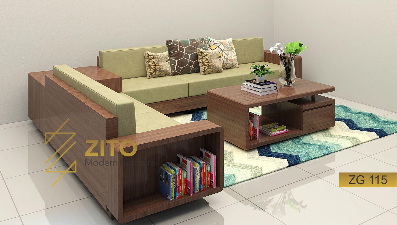 Zito Ban Ghế Sofa Gỗ Goc L Zg 115 Hiện đại Cho Nội Thất Gia đinh
