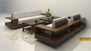 Sofa gỗ chữ U ZG 117
