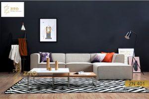 bàn ghế Sofa Nỉ ZN 401 cho phòng khách